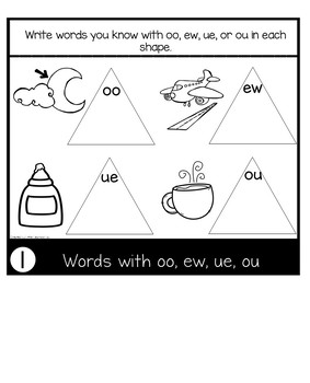 ew, ou, oo, ue sounds  | Phonics Flip Book | Journeys The Mysterious Tadpole