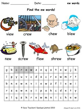 ew phonics lesson plans, worksheets and other teaching resources