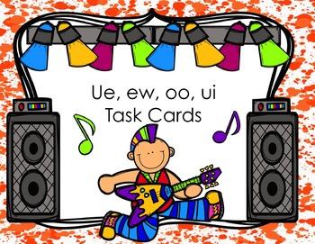 ew, ue, ui, oo Task Cards