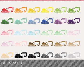 excavator Digital Clipart, excavator Graphics, excavator PNG