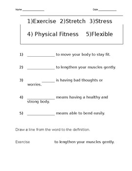 exercise terms