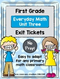 First Grade Exit Tickets (Everyday Math Unit 3)