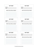 exit ticket sticky note template