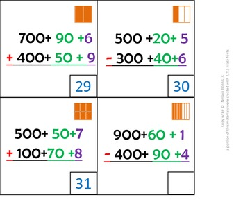 1st gr & 2nd grade Math Calendar - expanded form add and subtract, fractions