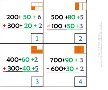 1st gr & 2nd grade Math Calendar - expanded form add and s