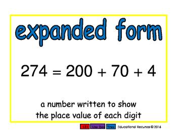 expanded form/forma desarrollada prim 2-way blue/verde