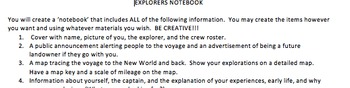 explorers project and rubric