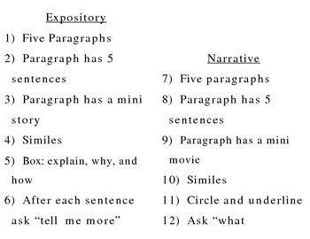 expository and narrative explanations