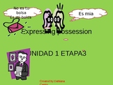 "expressing possession with ""de"" and possessive adjectives"