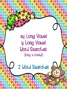 ey and y Long Vowel Word Searches!