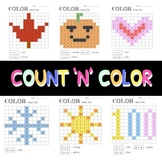 Count and Color - Holiday and Seasons