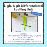 F Sounds (f, gh, and ph) Differentiated Spelling Unit