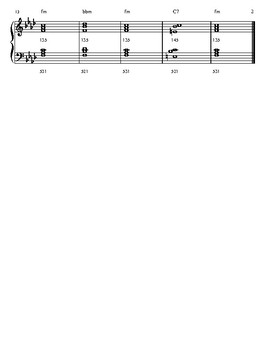 f minor scale and chord progression worksheet