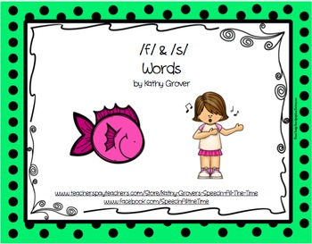 Initial f & s Words MiniBook