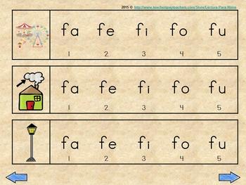 fa fe fi fo fu  silabas iniciales