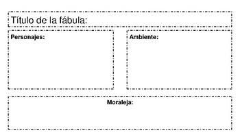 fables graphic organizer (Spanish)