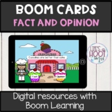 fact and opinion BOOM CARDS digital resource food theme
