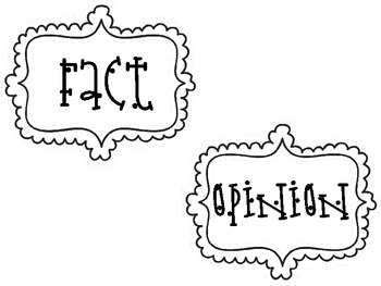 fact and opinion anchor/t-chart