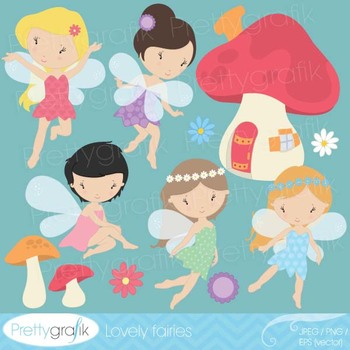 fairy clipart commercial use, vector graphics, digital clip art - CL513