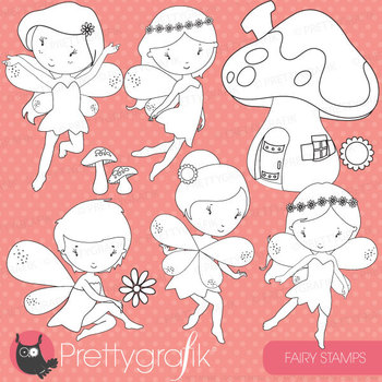fairy stamps commercial use, vector graphics, images - DS513