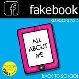 fakebook Back to School All About Me sheets