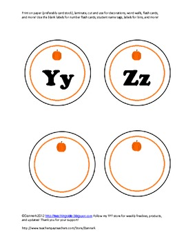 fall alphabet letters with bonus blank labels with bonus welcome poster
