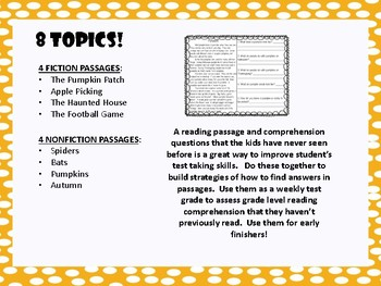 Fall Comprehension Cold Reads