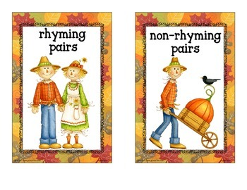 fall rhyme sort_scarecrow theme