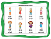 Mandarin family member flashcards big size and small size (Chinese version)