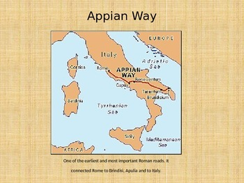 famous places in rome latin appian way aqueducts