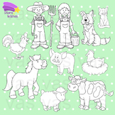 Farm Line Art Clip Art
