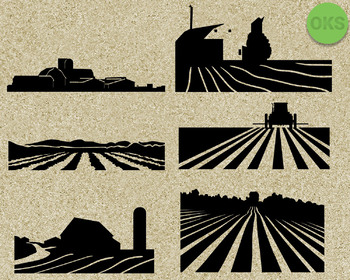 farm SVG cut files, DXF, vector EPS cutting file instant download for cricut