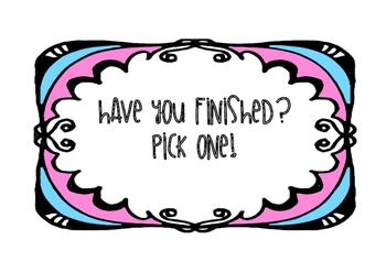 fast finisher tasks!