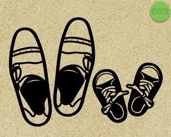 father and son shoes SVG cut files, DXF, vector EPS cutting file