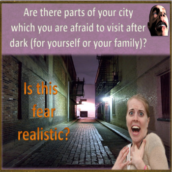 Fear – what exactly are you afraid of – ESL adult and kid conversation