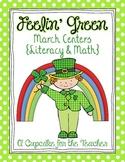 Feelin' Green March Centers {Literacy & Math}