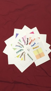 feeling/emotion vocabulary cards (graded), speech therapy/classroom
