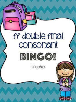 ff Double Final Consonant Bingo Freebie! [5 playing cards]