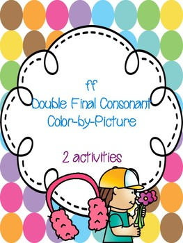 ff Double Final Consonant Color-by-Picture