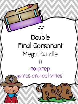 ff Double Final Consonant Mega Bundle! [11 no-prep games and activities]