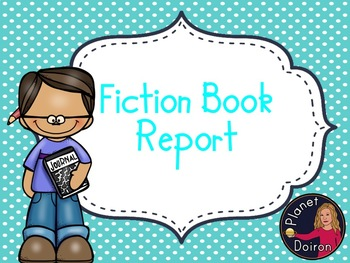 fiction book report FREEBIE