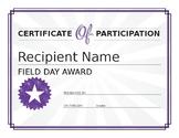 field day award
