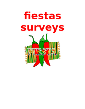 fiestas surveys SPANISH
