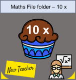 file folder Math 10 x table