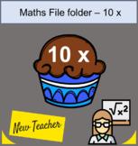file folder Math 10 x table