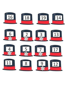 File folder game -  Number words