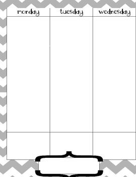 fill-in calendar