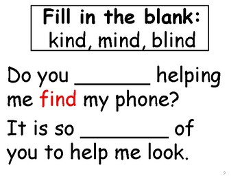 find sight word mini book