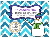 snowman find -a word families