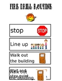fire drill visual schedule